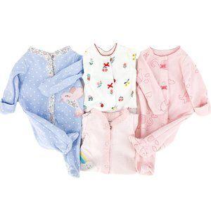 CARTER'S Preemie Snap Button Sleep & Play Lot of 4